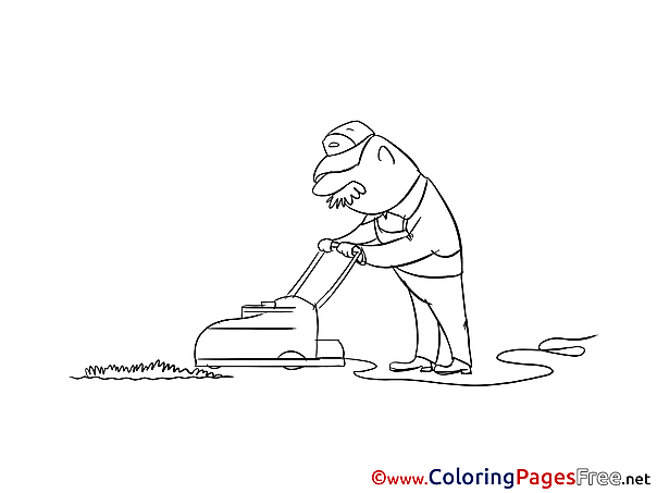 Gardener for Kids printable Colouring Page