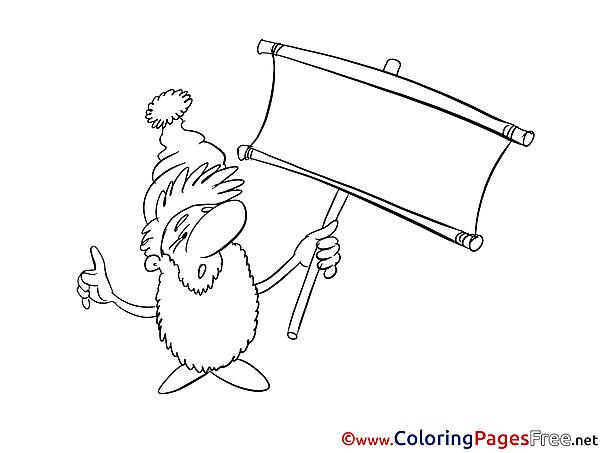 Gnome Children download Colouring Page