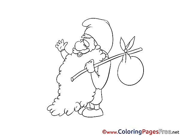 Gnome for Children free Coloring Pages