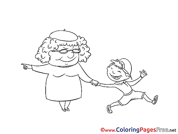 Grandmother Coloring Pages for free