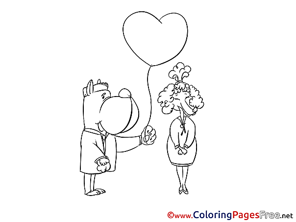 Heart for Kids printable Colouring Page