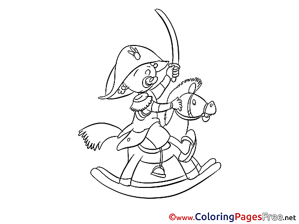 Horse for free Coloring Pages download