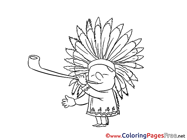Indian Kids free Coloring Page