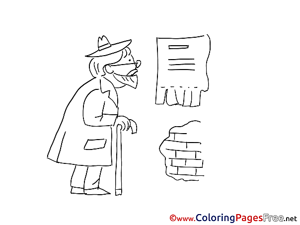 Old Man Coloring Sheets download free