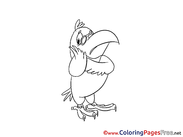 Parrot Kids free Coloring Page