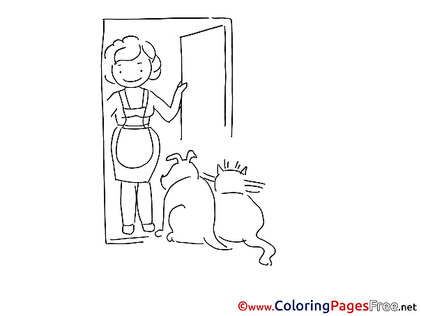 Pets Children Coloring Pages free