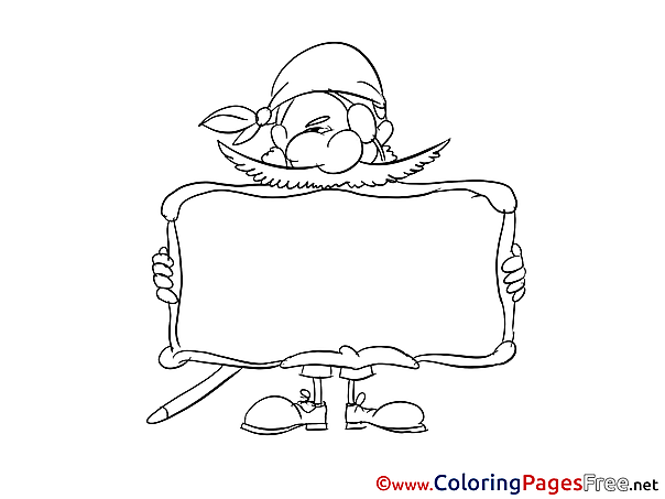 Pirate printable Coloring Pages for free