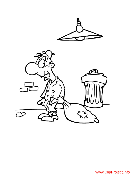 Robber coloring sheet free