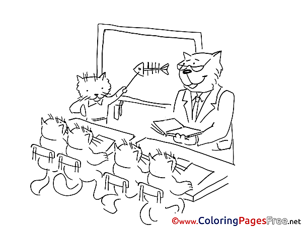 School free Colouring Page download