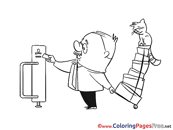 Ticket download printable Coloring Pages