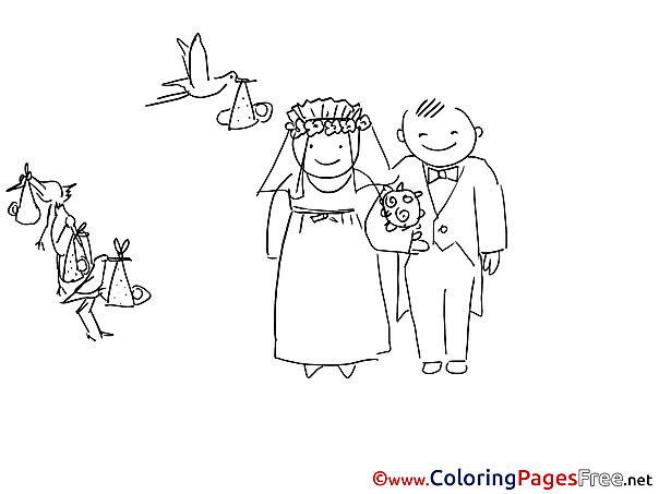 Wedding download printable Coloring Pages