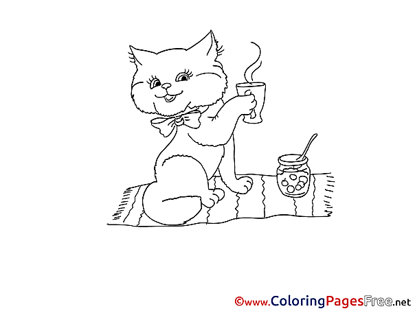 Cat download printable Coloring Pages
