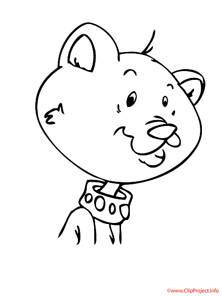 Cat printable coloring page for free