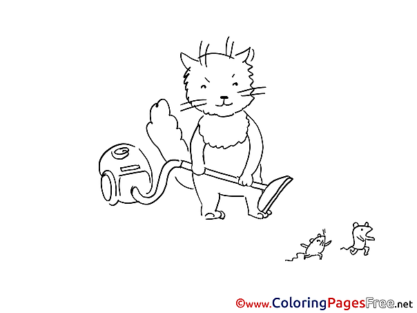 Vacuum Cleaner printable Coloring Sheets download