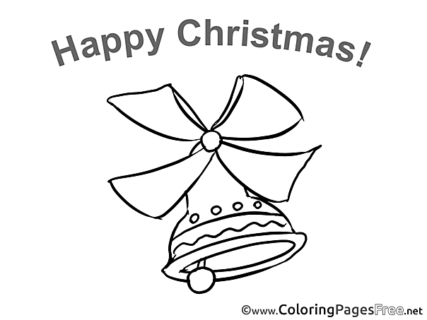 Bell for Kids Christmas Colouring Page