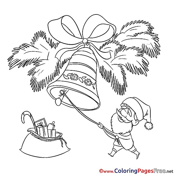 Bell printable Coloring Pages Christmas