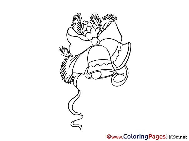 Bells Colouring Page Christmas free