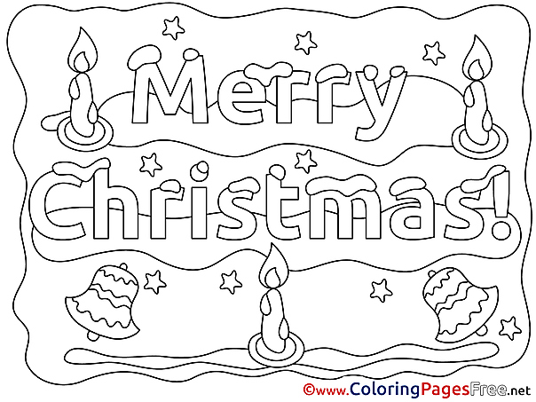 Decoration free Colouring Page Christmas