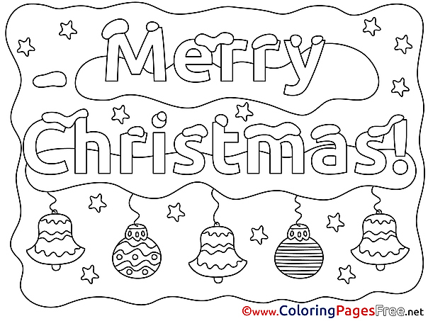 Decoration Kids Christmas Coloring Page
