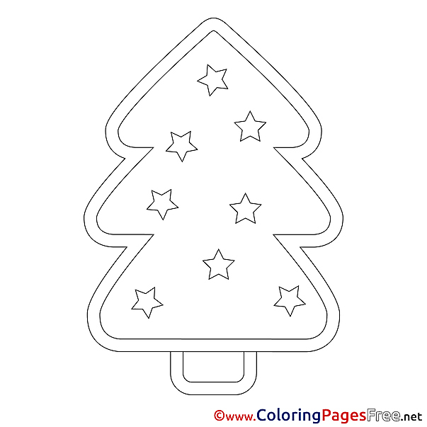 Drawing Tree Kids Christmas Coloring Pages