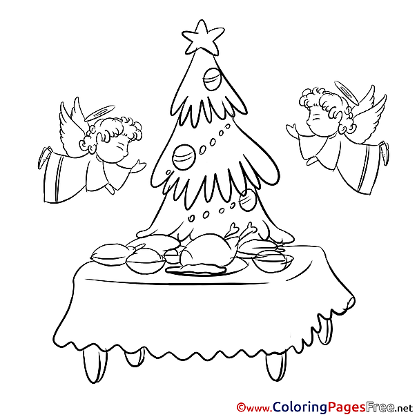 Feast download Christmas Coloring Pages