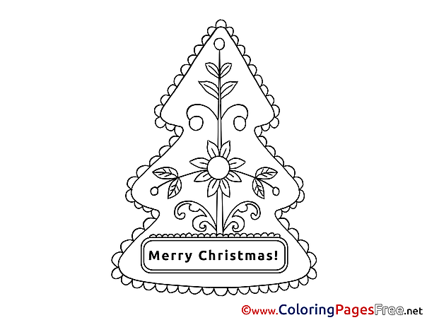 Flower Coloring Pages Christmas