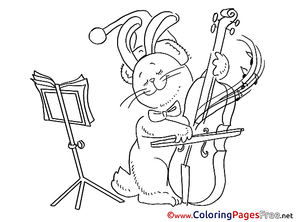 Music Kids Christmas Coloring Pages