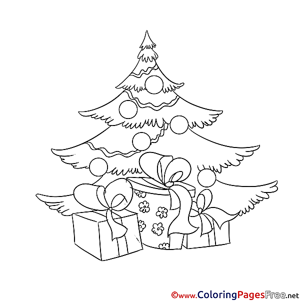 Presents Christmas Coloring Pages download
