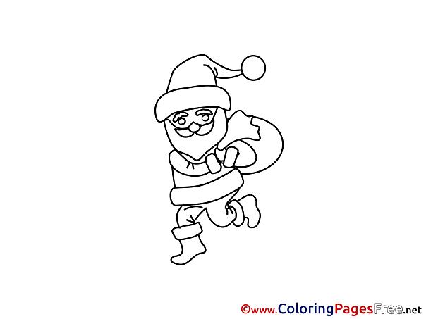 Santa Claus Christmas free Coloring Pages