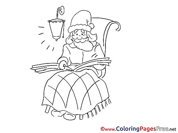 Santa Claus free Christmas Coloring Sheets