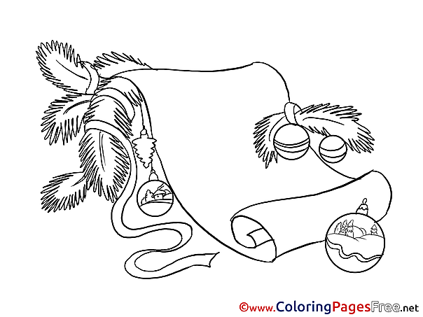 Wish List Coloring Sheets Christmas free