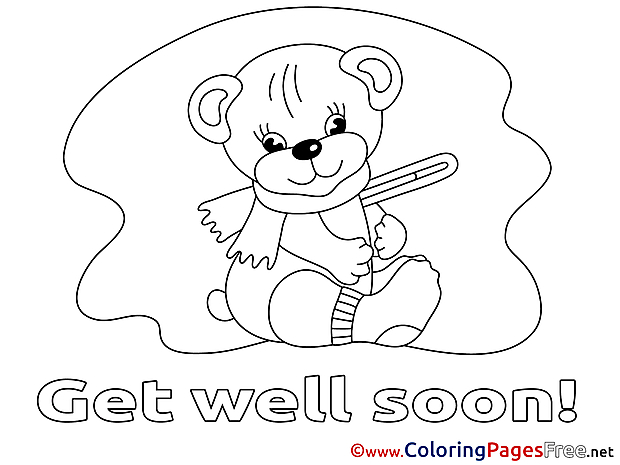 Illness download Get well soon Coloring Pages