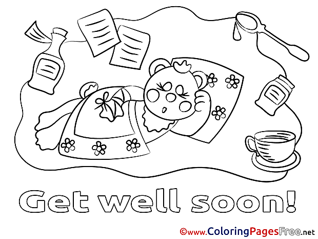 Illness Get well soon Coloring Pages download