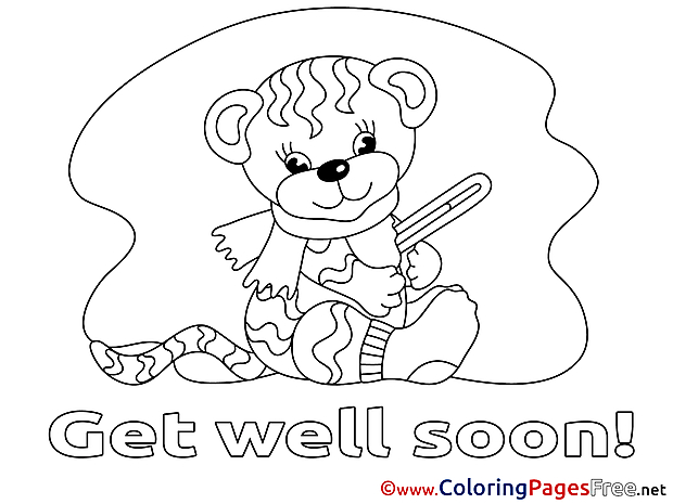 Tiger printable Coloring Pages Get well soon
