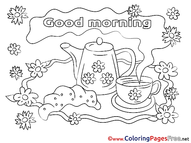 Kettle download Good Morning Coloring Pages