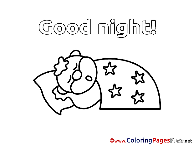 Animal Coloring Pages Good Night for free