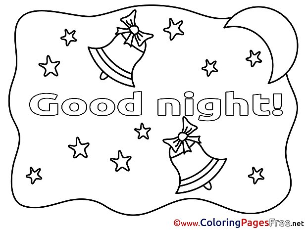 Bells Good Night Coloring Pages free