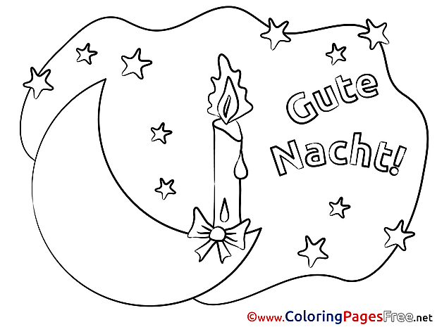 Candle download Good Night Coloring Pages