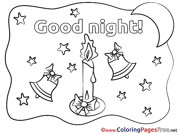 Flame Coloring Sheets Good Night free