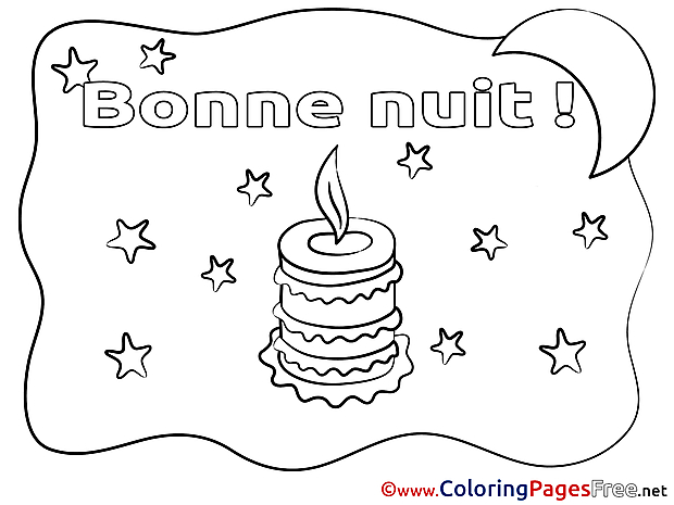 Flame free Good Night Coloring Sheets