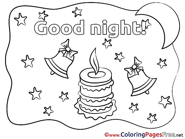 Stars Good Night Colouring Sheet free