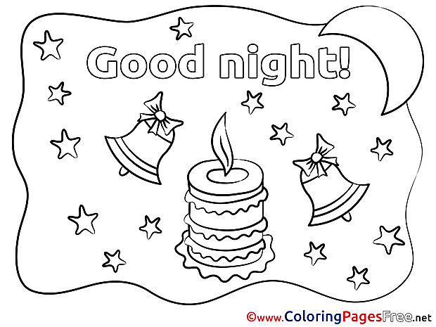 Stars Good Night free Coloring Pages