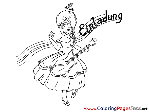 Guitar download Colouring Sheet Music Girl free