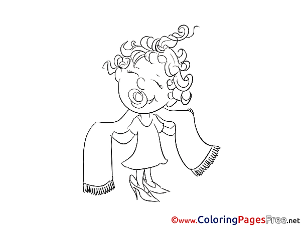 Towel for Kids printable Colouring Page