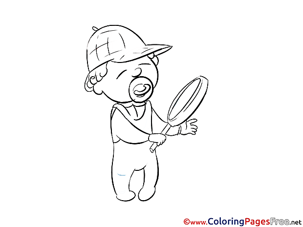 Baby Children Coloring Pages free