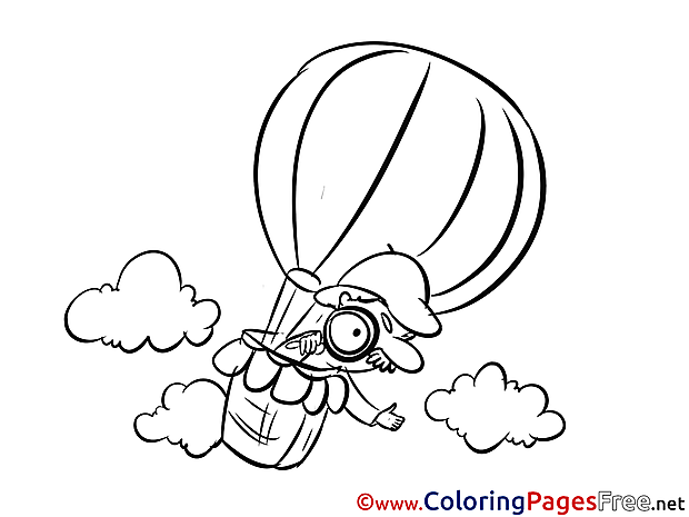 Balloon Children Coloring Pages free