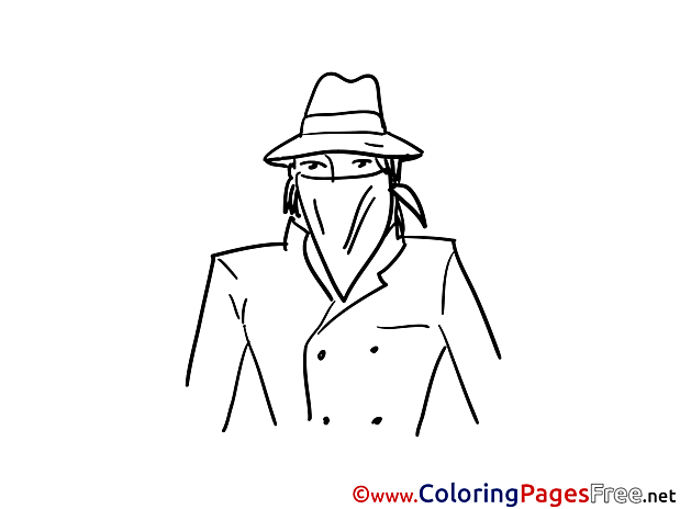 Bandit Children Coloring Pages free