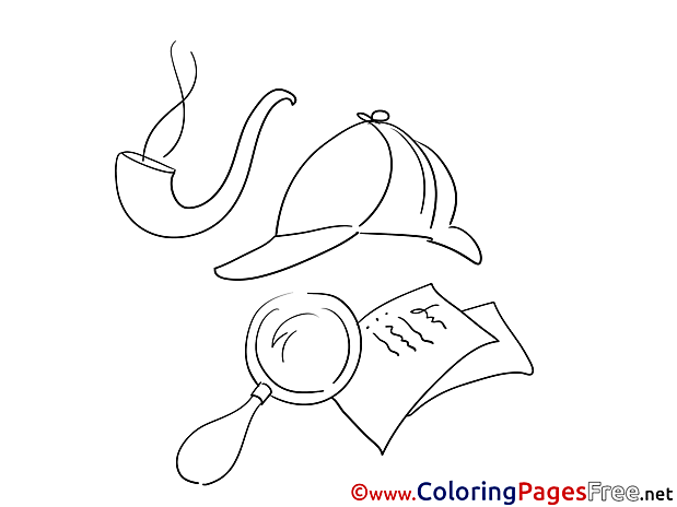 Cap Pipe Loupe for Children free Coloring Pages