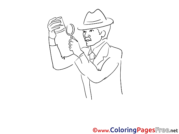 Clue Loupe for Kids printable Colouring Page