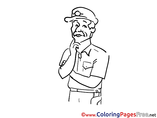 Coloring Pages Detective Kids download